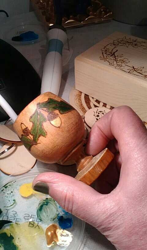 Small wooden goblet