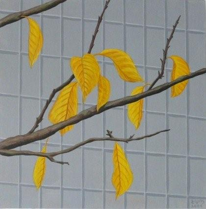 Nine gold Leaves