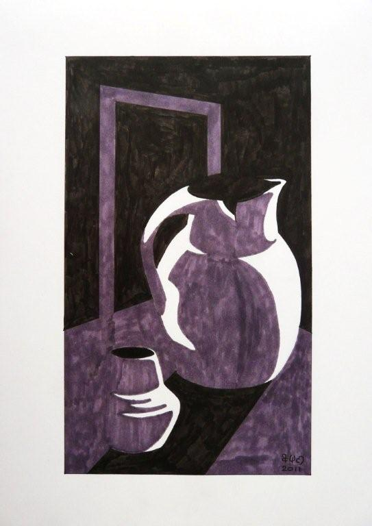 Still Life in the style of Patrick Caulfield