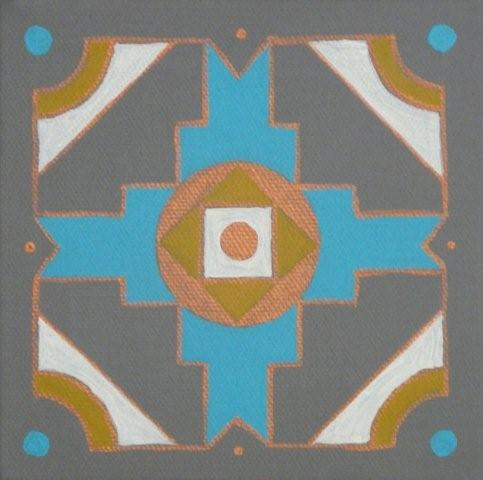 African panel turq/copper
