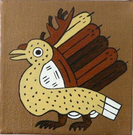 Nazca bird motif