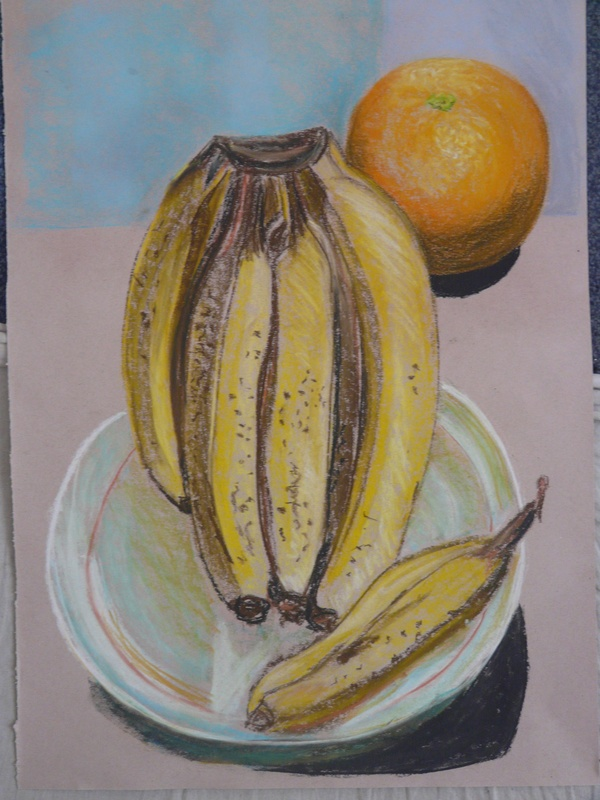 Bananas and orange