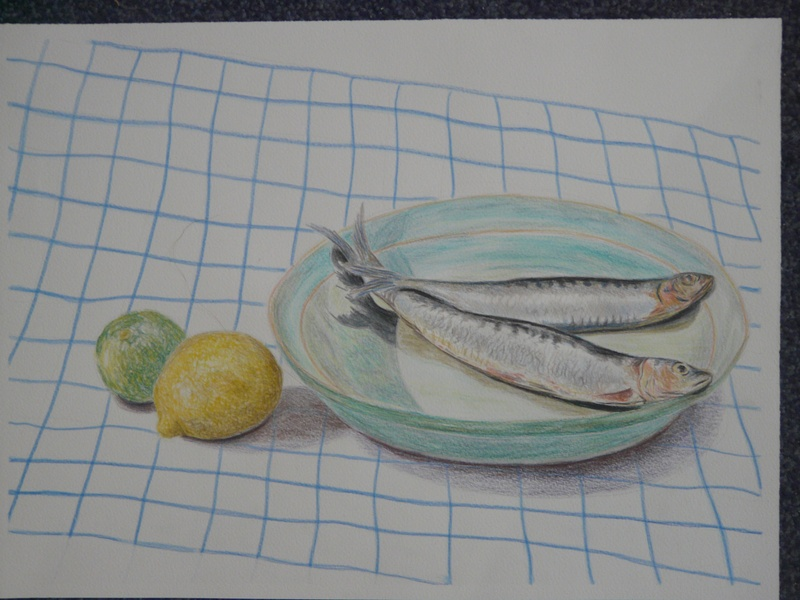 Two fish on a plate
